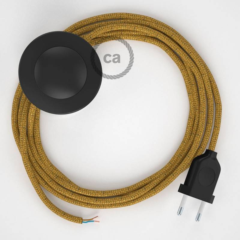 Wiring Pedestal, RL05 Sparkly Gold Rayon 3 m. Choose the colour of the switch and plug.