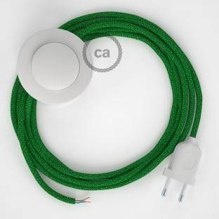 Wiring Pedestal, RL06 Sparkly Green Rayon 3 m. Choose the colour of the switch and plug.