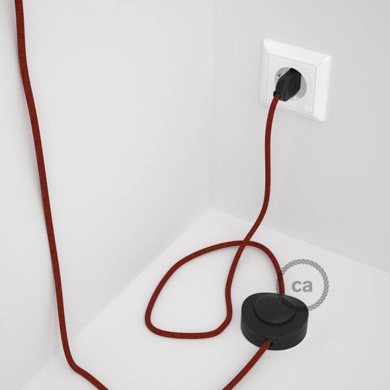 Wiring Pedestal, RL09 Sparkly Red Rayon 3 m. Choose the colour of the switch and plug.