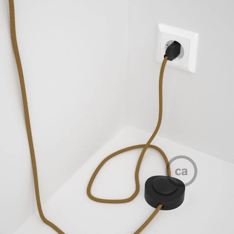 Wiring Pedestal, RC31 Golden Honey Cotton 3 m. Choose the colour of the switch and plug.