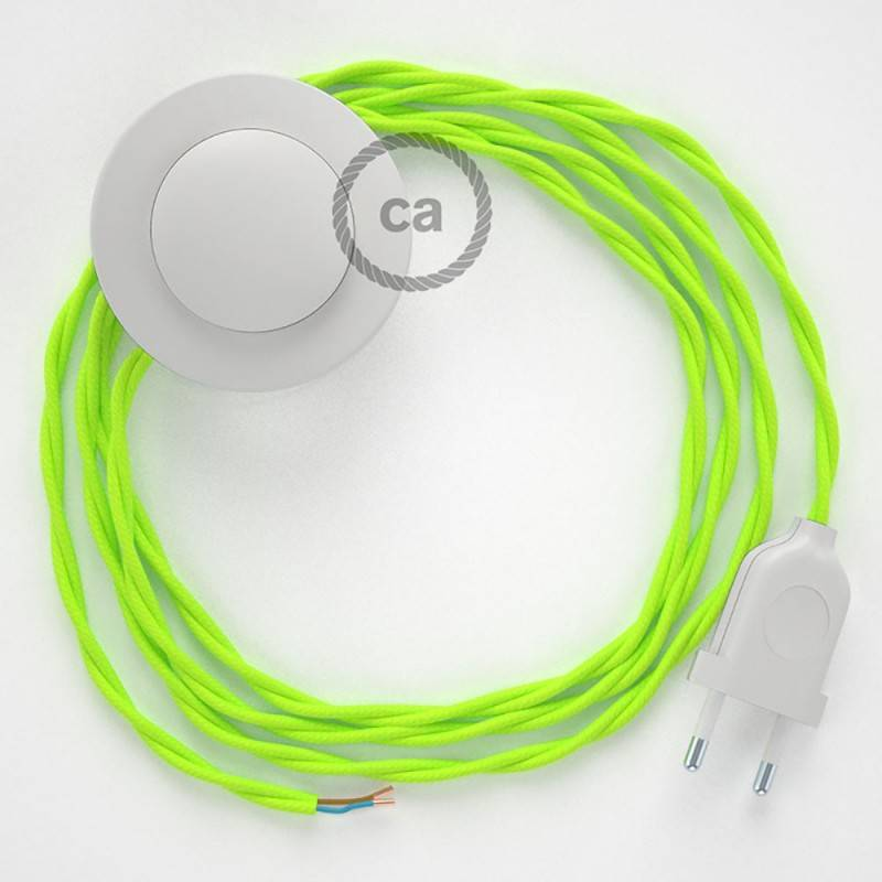 Wiring Pedestal, TF10 Neon Yellow Rayon 3 m. Choose the colour of the switch and plug.