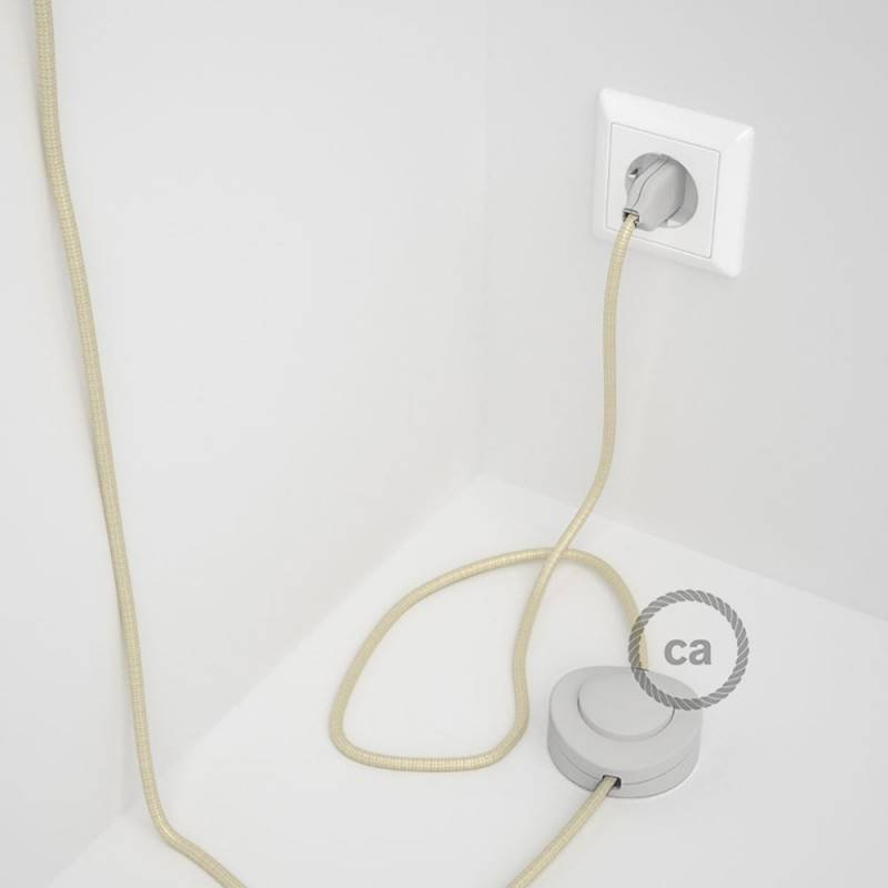 Wiring Pedestal, RM00 Ivory Rayon 3 m. Choose the colour of the switch and plug.