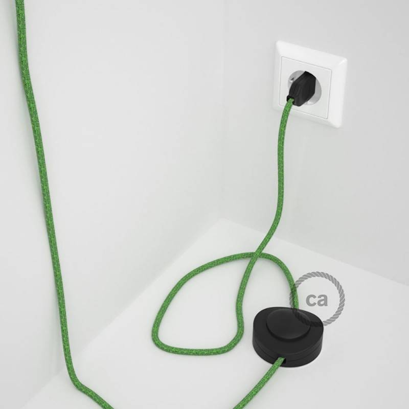 Wiring Pedestal, RX08 Bronte Cotton 3 m. Choose the colour of the switch and plug.