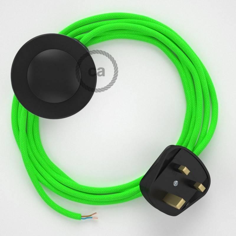 Wiring Pedestal, RF06 Neon Green Rayon 3 m.