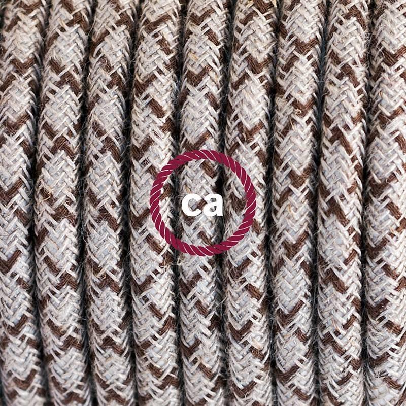 Wiring Pedestal, RD63 Bark Diamond Cotton and Natural Linen 3 m.