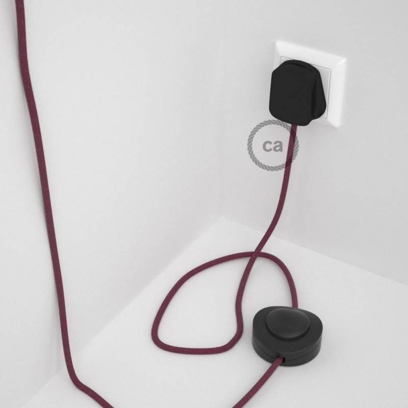 Wiring Pedestal, RC32 Burgundy Cotton 3 m.