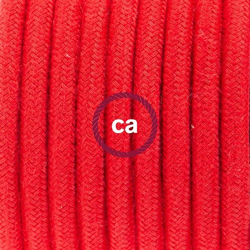 Wiring Pedestal, RC35 Fire Red Cotton 3 m.