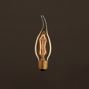 Vintage Golden Light Bulb Gust of wind C35 Carbon Filament ZigZag 30W E27 Dimmable 2000K