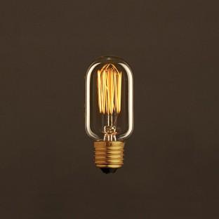 Vintage Golden Light Bulb Valve T45 Carbon Filament Cage 30W E27 Dimmable 2000K