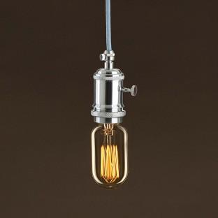 Vintage Golden Light Bulb Valve T45 Carbon Filament Cage 25W E27 Dimmable 2000K