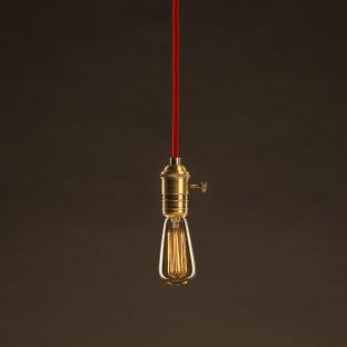 Vintage Golden Light Bulb Edison ST48 Carbon Filament Cage 30W E27 Dimmable 2000K