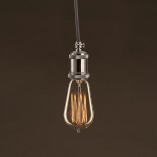 Vintage Golden Light Bulb Edison ST58 Carbon Filament Cage 25W E27 Dimmable 2000K
