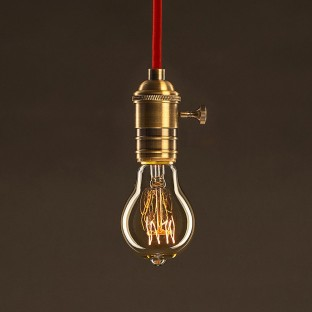 Vintage Golden Light Bulb Drop A60 Carbon Filament Spiral Curve 30W E27 Dimmable 2000K
