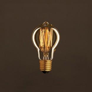 Vintage Golden Light Bulb Drop A60 Carbon Filament Cage 25W E27 Dimmable 2000K