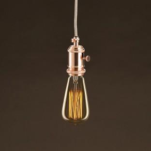 Vintage Golden Light Bulb Edison ST64 Carbon Filament Cage 25W E27 Dimmable 2000K