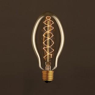 Vintage Golden Light Bulb Candle E75 Carbon Filament Double Spiral Curve 25W E27 Dimmable 2000K