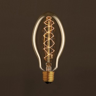 Vintage Golden Light Bulb Candle E75 Carbon Filament Double Spiral Curve 30W E27 Dimmable 2000K