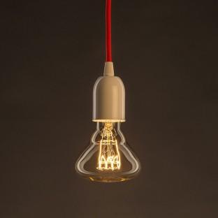 Vintage Golden Light Bulb BR95 Carbon Filament Spiral Curve Horizontal 25W E27 Dimmable 2000K