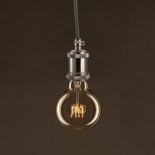 Vintage Golden Light Bulb Globe G80 Carbon Filament Spiral Curve 30W E27 Dimmable 2000K
