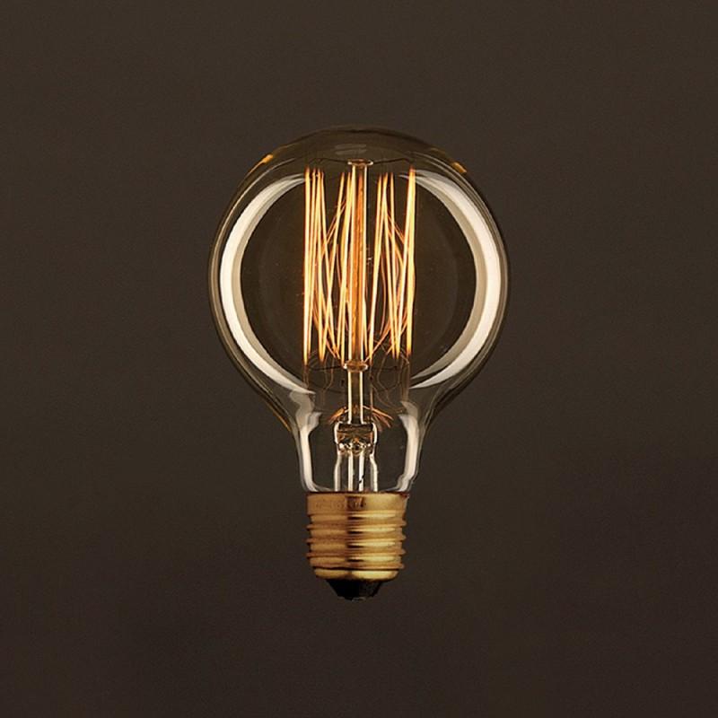 Vintage Golden Light Bulb Globe G80 Carbon Filament Cage 25W E27 Dimmable 2000K