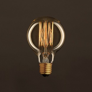 Vintage Golden Light Bulb Globe G80 Carbon Filament Cage 25W E27 Dimmable 2000K