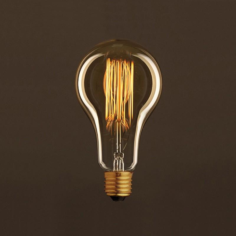 Vintage Golden Light Bulb Drop A95 Carbon Filament Cage 25W E27 Dimmable 2000K