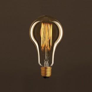 Vintage Golden Light Bulb Drop A95 Carbon Filament Cage 30W E27 Dimmable 2000K