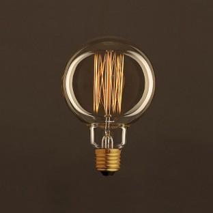 Vintage Golden Light Bulb Globe G95 Carbon Filament Cage 25W E27 Dimmable 2000K