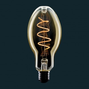 Golden LED Light Bulb E75 Candle Curved Filament Spiral Curve 4W E27 Dimmable 2000K