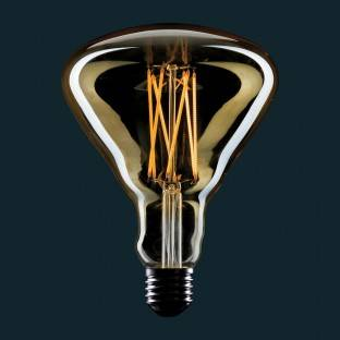Golden LED Light Bulb BR125 Filament Cage 4W E27 Dimmable 2000K