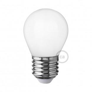 LED Milky White Light Bulb - Miniglobe G45 - 4W E27 Dimmable 2700K