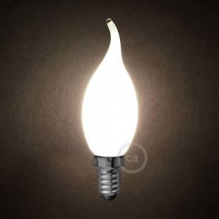 LED Milky White Light Bulb - Gust of wind C35 - 4W E14 Dimmable 2700K