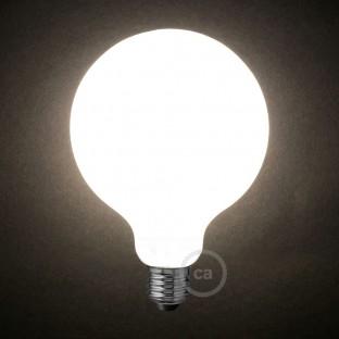 LED Milky White Light Bulb - Globe G125 - 8W E27 Dimmable 2700K