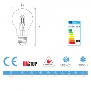 Light bulb Halo Drop 52W E27 Dimmable