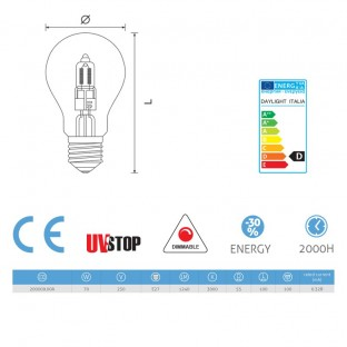 Light bulb Halo Drop 70W E27 Dimmable