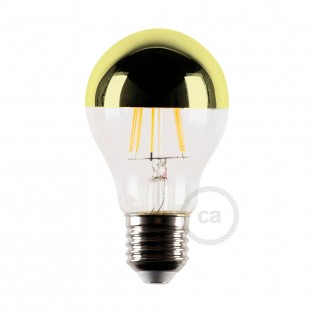 Gold half sphere LED light bulb 4W E27 2700K