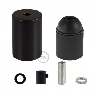 E26 UL Cylinder socket kit with black cap + cylindrical cable retainer