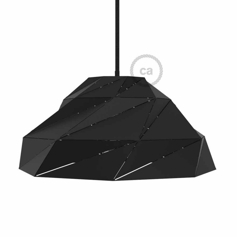 Creative cables international creative cables international nuvola lampshade in opaque black metal with e27 lamp holder greentooth Image collections