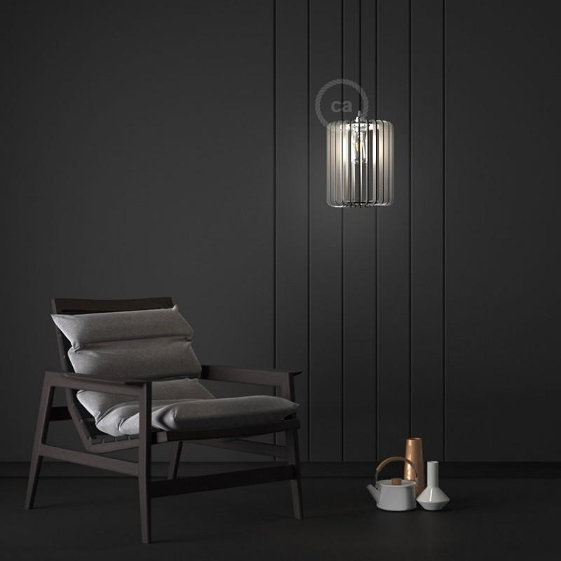 Pregia Cilindro 30 Dibond lampshade with alluminium finish