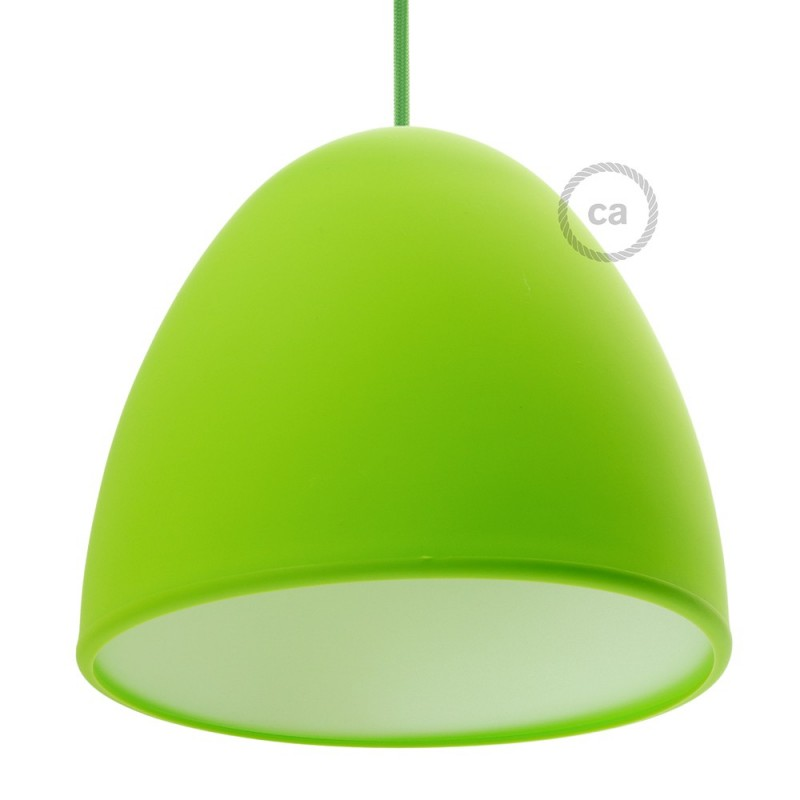 Silicone lampshade color lime green supplied with diffuser and silicone lampshade color lime green supplied with diffuser and strain relief diameter cm 25 mozeypictures Images