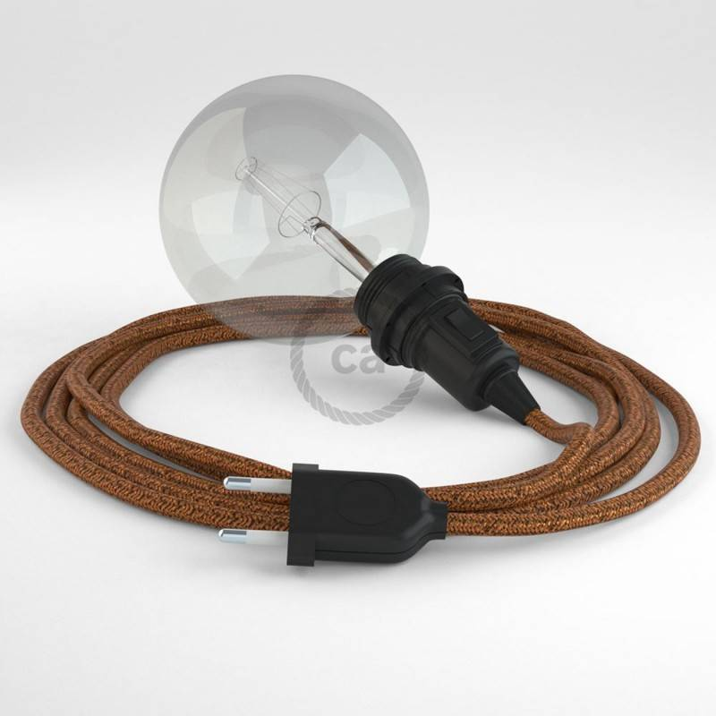 Create your RL22 Glittering Copper Snake for lampshade and bring the light wherever you want.