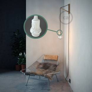 Create your TN03 Anthracite Natural Linen Snake for lampshade and bring the light wherever you want.