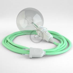 Create your RC34 Milk and Mint Cotton Snake for lampshade and bring the light wherever you want.