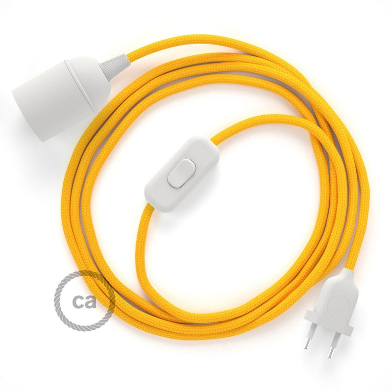 snakebis wiring with lamp holder and fabric cable yellow rayon rh creative cables com wiring a light bulb holder wiring a bulb holder