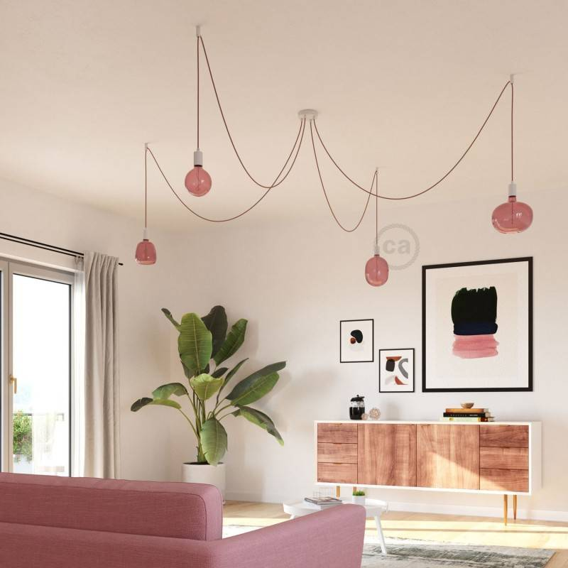 Egg Berry red XXL light bulb, Pastel line, vine filament, 4W E27 Dimmable 2200K