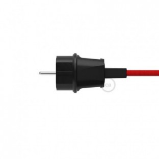 Black Schuko Plug for String Lights