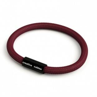 Bracelet with Matt black magnetic clasp and RM19 cable