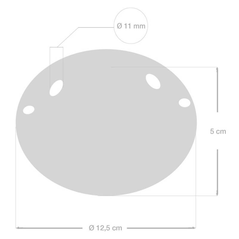 Ceramic 2-hole ceiling rose kit