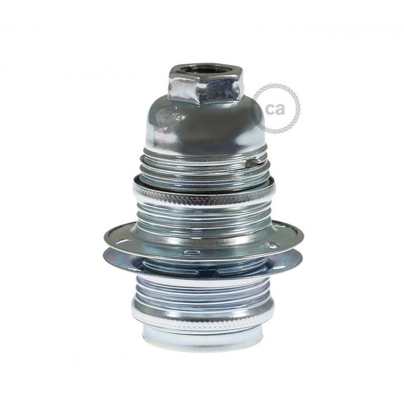 Double ferrule metal E14 lamp holder kit for lampshade