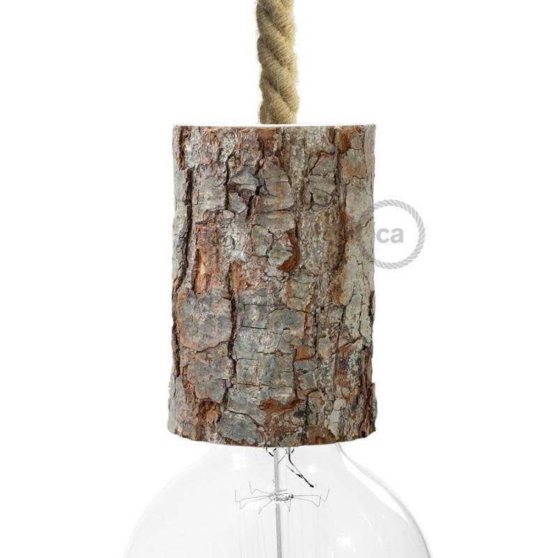 Small bark E27 lamp holder kit